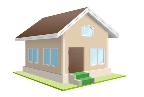 Illustration of a residential house totally fixed up